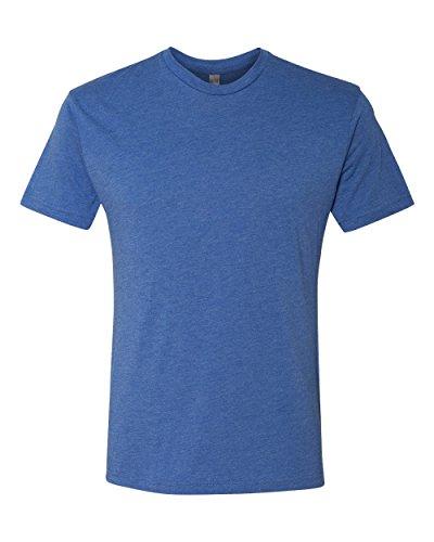 Next Level 6010 Men's Tri-Blend Crew Tee - Large - Vintage Royal (T-shirt Blend Polyester)