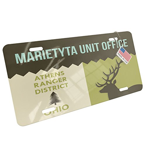 Metal License Plate National US Forest Marietyta Unit Office Athens Ranger District - Neonblond (Athens Ga Us)