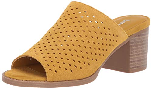 Dirty Laundry by Chinese Laundry Women's TAKE All Sandal, Mustard Suede, 10 M US