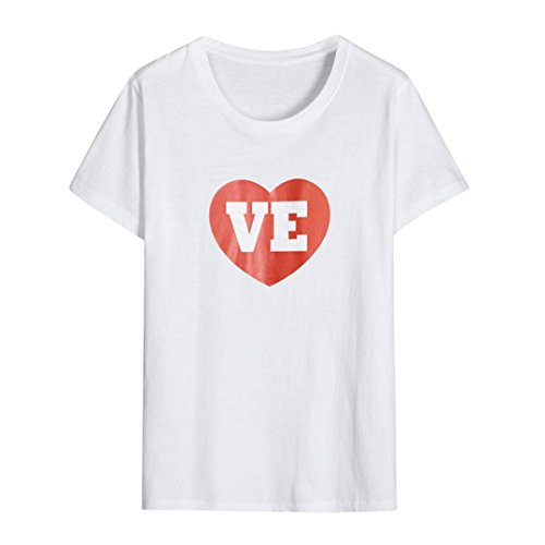 Willsa Mom&Me Baby Boys Girls Cotton Heart Shape Letter Printing Short Sleeve T-Shirt Family Clothes (XXL) ()