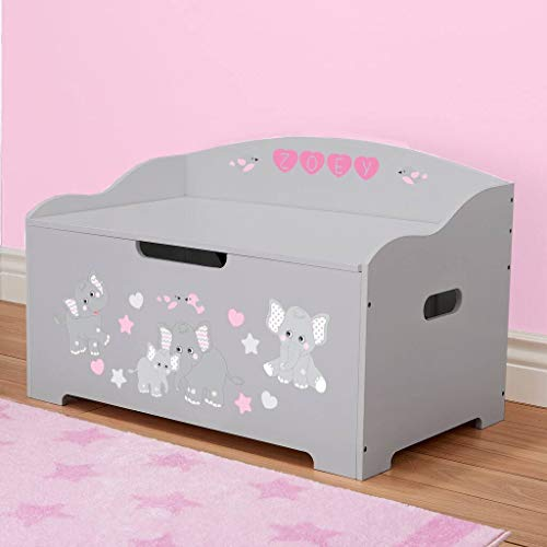 DIBSIES Personalization Station Personalized Dibsies Modern Expressions Toy Box (Gray with Pink ()