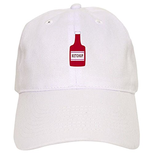 CafePress Ketchup Bottle Baseball Baseball Cap with Adjustable Closure, Unique Printed Baseball Hat White -
