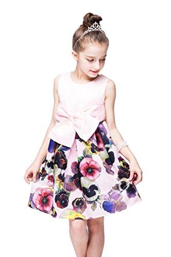 Yming Ragazze D'epoca Altalena Vestito Grandi Bowknotbirthday Partito Rosa Tutu Fiore Vestito 6Sr6A