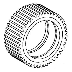 Case IH Tractor Differential Pinion Gear Part No: A-81455C1 by AI Products