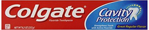 Colgate Protection contre la carie dentifrice fluoré, saveur régulière, 8,2 oz (Pack de 6)