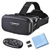CHIMAERA Virtual Reality VR Box 3D Viewing Glasses Goggles iOS/ Android Headset (Black)