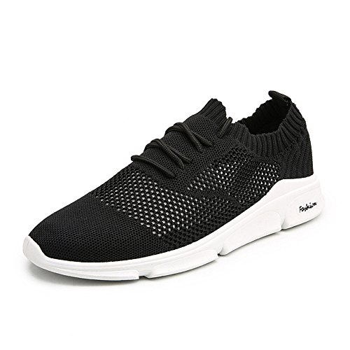 ANTETOKUPO Men's Running Shoes Lightweight Breathable Mesh Soft Sole Casual Shoes Fashion Sneakers Walking Shoes (7, Black) For Sale