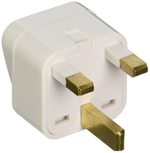 CKITZE BA-7 Grounded Universal 2 in 1 Plug Adapter Type G for UK, Hong Kong, Singapore & more - CE Certified (Single Volt Receptacle)