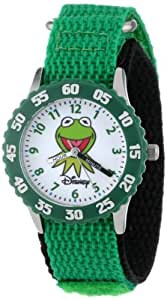 "Disney Kids' W000159 Muppets ""Time Teacher"" Stainless Steel Watch with Green Nylon Band"