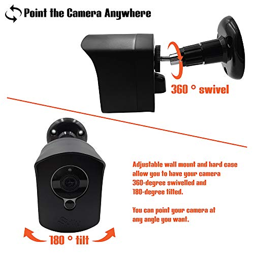 Mounting Set for Wyze Cam (1 pcs Black) - Outdoor Case for Wyze Camera & v2 1080p Full HD w/Screw Mounts - Wyze Waterproof Cover with Wall Mount Bracket - Solid Housing for Wyze Cams by SULLY