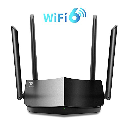 WiFi 6 Router-AX1500 Gigabit Dual Band Wi-Fi Router,Next-Gen 802.11ax Wireless Router Supporting MU-MIMO and OFDMA Technology with 1xWAN Port and 4 x Gigabit LAN Ports,WPA3,WPS for Whole-Home Coverage