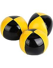 3 STKS Geel Zwart PU Zachte Gemakkelijk Thud Jongleren Ballen Clown Spelen Jongleren Bal Set voor Beginner Jongleur Kinderen en Volwassenen