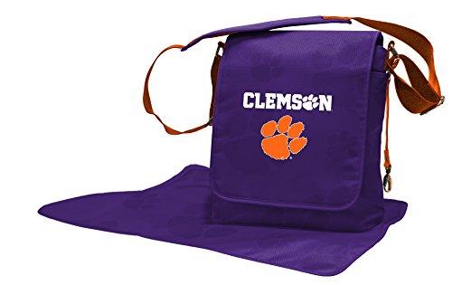 Wild Sports NCAA College Clemson Tigers Messenger Diaper Bag, 13.25 x 12.25 x 5.75-Inch, Orange by Wild Sports