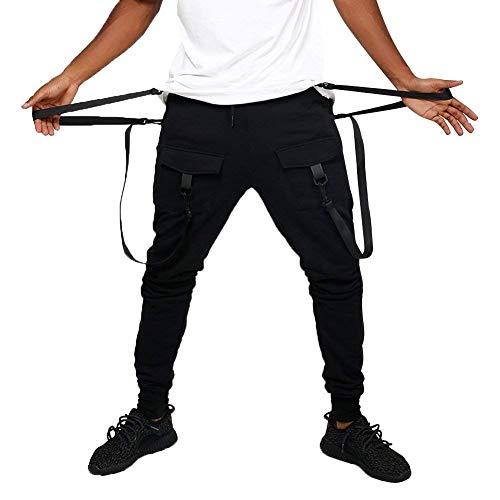 Multi Tasche Uomo Pantaloni Morbide Da Multitasche Con Moda Cotone Abiti Cargo Jeans Blackb E Taglie Ssig Comode f6zxw5E