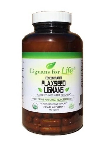 Organic Flaxseed Lignans 30 mg Flax Hulls by Lignans For Life