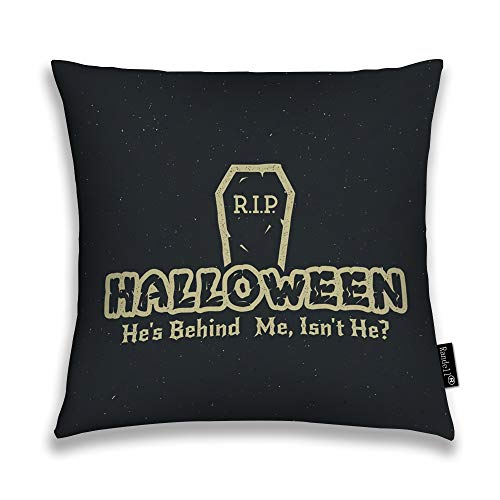 Randell Throw Pillow Covers Halloween 2016 Party Label Tombstone Elements Retro Home Decorative Throw Pillowcases Couch Cases 20