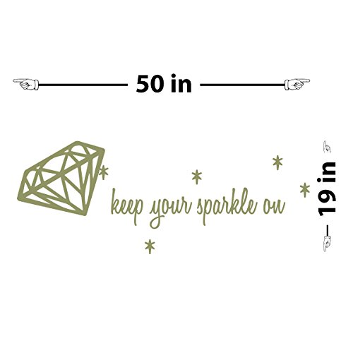 Keep Your Sparkle Wall Decal (Olive, 19