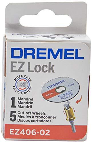 """Kit Discos de Corte para Metal, Cinza, 1 1/2"""", Dremel EZ406, 5 Unidades"""