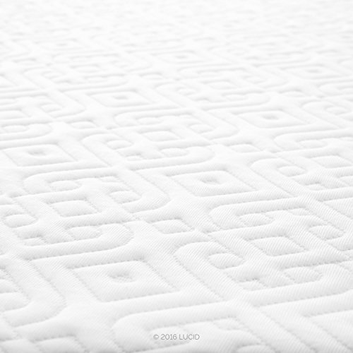 LUCID 12 Inch Gel Memory Foam Mattress - Triple-Layer - 4 Pound...