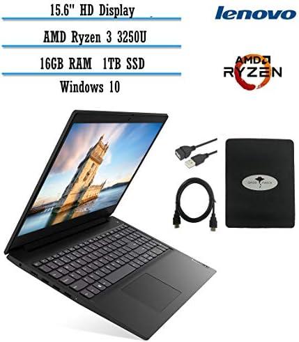 "2021 Newest Lenovo IdeaPad 3 15.6"" HD Laptop for Business and Student, AMD Ryzen 3 3250U(Beat i7-7600u), 20GB RAM, 1TB SSD, HDMI WiFi, Windows 10 S w/Ghost Manta Accessories WeeklyReviewer"