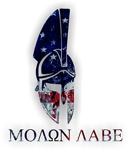 One (1) pc. - Retro American Flag SPARTAN MOLON LABE - 4