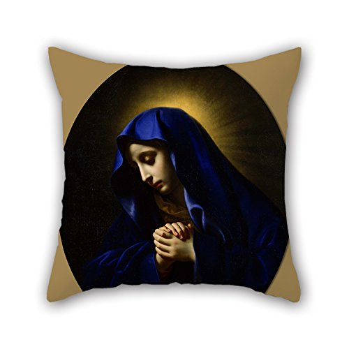 [Beautifulseason 20 X 20 Inches / 50 By 50 Cm Oil Painting Carlo Dolci - Mater Dolorosa Throw Pillow Case ,twice Sides Ornament And Gift To Husband,dance Room,dining] (Face Painting For Lion Costume)