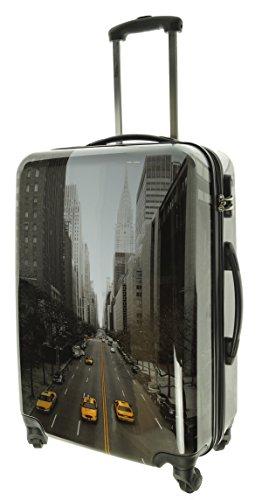 Maletín streetts tamaño XL Carbon/Carcasa Rígida de Policarbonato Viaje Maleta Case New York Taxi Skyline FA. bowatex