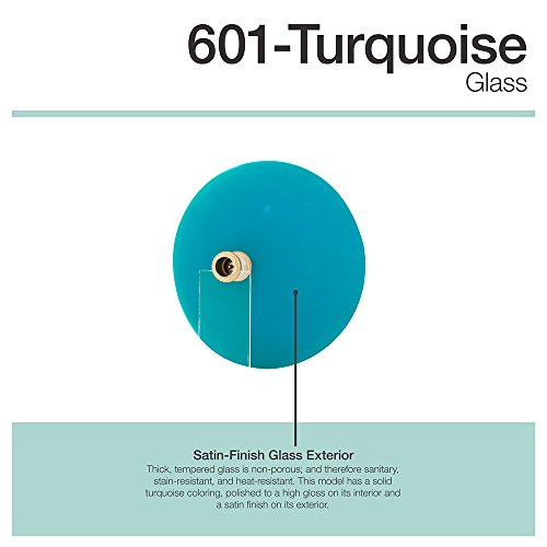 601 Turquoise Coloured Glass Vessel Sink by MR Direct (Image #4)