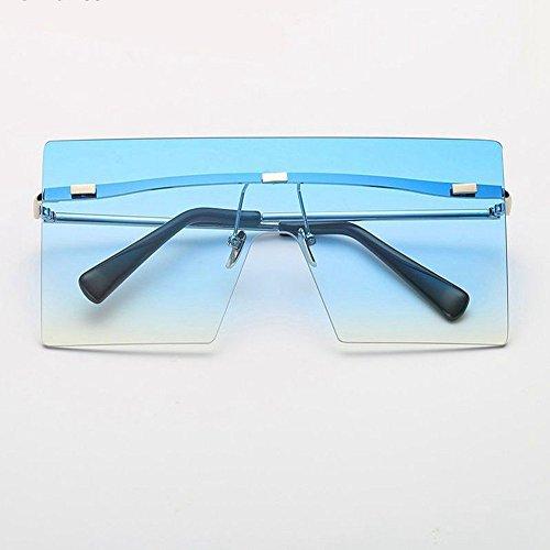 De Los Gafas De De Gafas Hombres Retro Las De Señoras Marco Los Sol Gafas Hombres Grandes Las De Gafas De Sin De Gafas Metal De Los Moda De Azul Blanco Hombres WANGKEAI De Sol yqw6S1a4gy