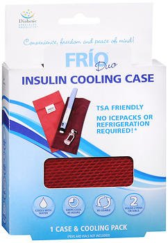 FRIO Duo Insulin Cooling Case - 1 cs and Cooling Pack, Pack of 5