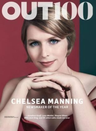 Out Magazine (December 2017/January 2018) Out 100 Chelsea Manning Cover