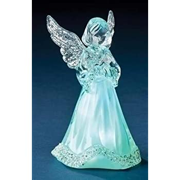 Tricolor LED Lighted Little Angel Figurine, 3 3/4 Inch