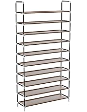 Sable Shoe Rack, Shoe Storage Tall Shoe Organiser with Waterproof Fabric Tiers