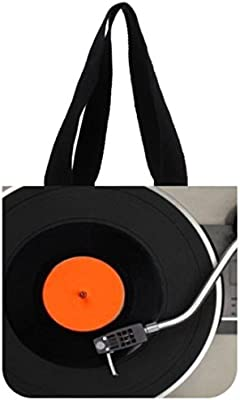 Home Fashion Tocadiscos tema S Tote bolsa resistente lona bolsa de ...