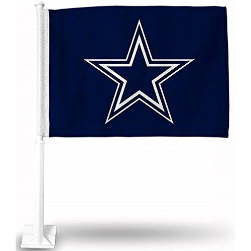 NFL Dallas Cowboys Star Logo Car Flag (Dallas Cowboys Football Car Flag)