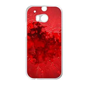 Fire red heart love personalized creative custom protective phone case for HTC M8