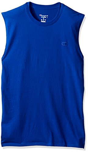 Champion Men's Classic Jersey Muscle T-Shirt, Surf the Web, XL