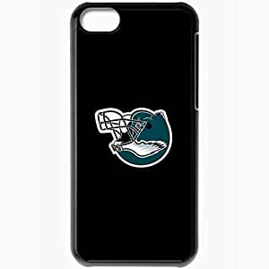 Personalized iPhone 5C Cell phone Case/Cover Skin Nfl Philadelphia Eagles 3 Sport Black