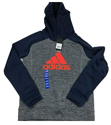 adidas Boys' Athletic Pullover Hoodie (Navy Orange, L - 14/16) - Navy Pullover Windbreaker