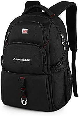 a4f033e401 ASPENSPORT Laptop Backpack Fit 17 Inch Computer Durable College Student  School Book Bag Water Resistant Business Anti Theft Travel Daypack with USB  Jack ...