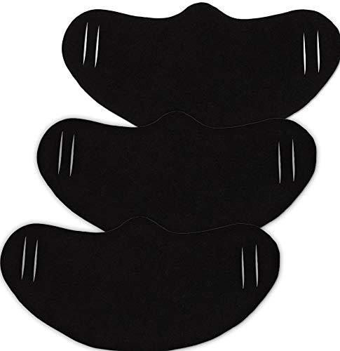 HYPSHRT Leichte Maske aus T-Shirt gestanzt für Mund und Nase Waschbar, Schwarz 3er Set Einheitsgröße