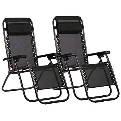 Havnyt - Juego de 2 sillas reclinables de jardín para tumbonas