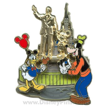 Disney Pin #66856: WDW - Donald & Goofy At The Partners Statue