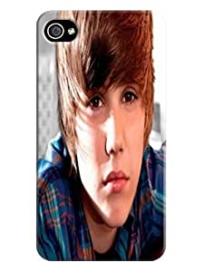 attractive designed iphone 4/4s Cool Justin Bieber Unique Durable TPU phone Case/Cover/Shield fashionable
