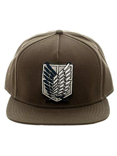 (Attack on Titan - Scout Canvas Snapback Hat Size ONE SIZE, Brown)