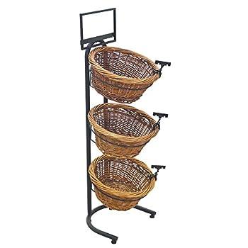 3-1 Tiered Basket Stand Wicker