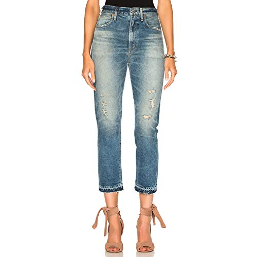 Of Rise Humanity High Citizens (Citizens of Humanity Womens Dree Crop High Rise Slim Jeans Rustic 30)