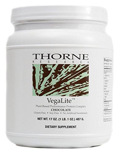 Thorne Research – VegaLite – Vegan-Friendly Performance Protein Powder – Chocolate Flavor – 17 oz