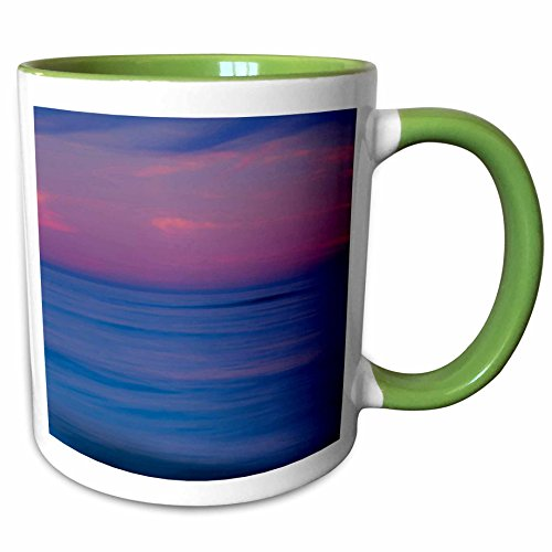 3dRose Danita Delimont - Sunrises - USA, New Jersey, Cape May. Sunrise on ocean shore - US31 BJA0014 - Jaynes Gallery - 11oz Two-Tone Green Mug - Outlets Jersey New Shore