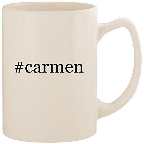 #carmen - White Hashtag 14oz Ceramic Statesman Coffee Mug Cup -
